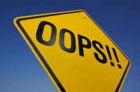 Oops! Road Sign