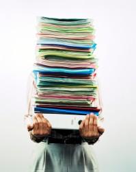 pile de papiers