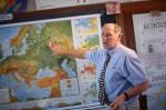 Teacher Explaining Map of Europe