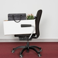 Office Chair and Box Containing Personal Effects