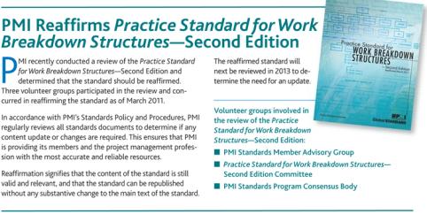 WBS Standard Practice