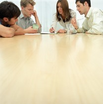 Office workers in meeting
