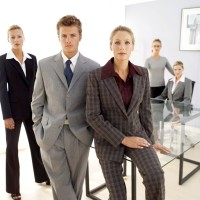 Business Executives Posing in an Office
