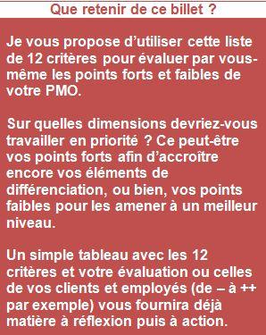 critères PMO