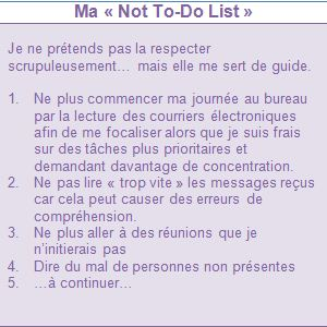 ma not to do list