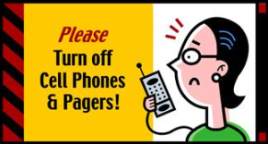 turn off cell phones