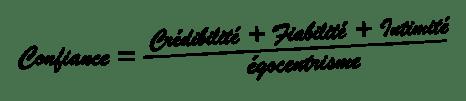 équation confiance