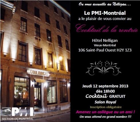 cocktail rentrée 2013 PMI Montréal