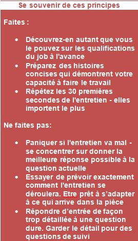 principes job hunting