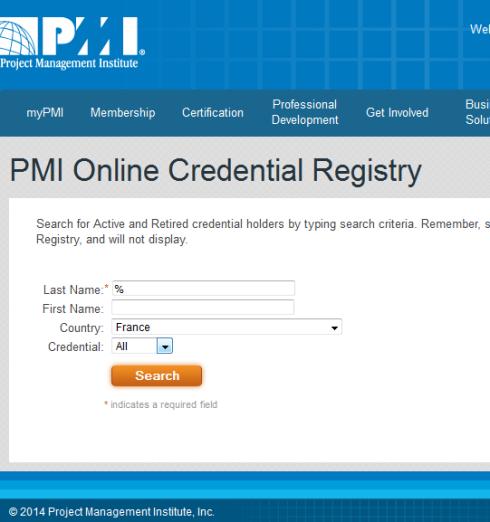 pmi registry