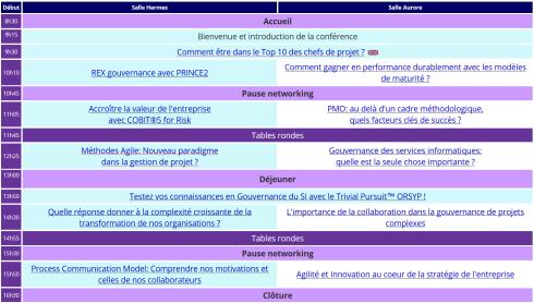 APMG-Showcase France 2014 - Agenda