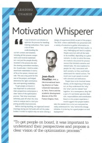 "Read this article ""Motivation Whisperer"" by Jean-Roch Houllier"