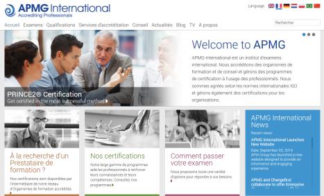 APMG New Website