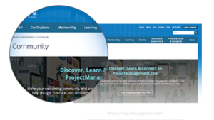 pmi new web community