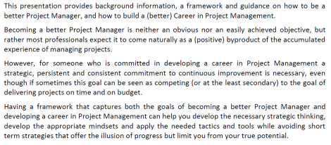How to Develop your Career in Project Management - Nicos Kourounakis.