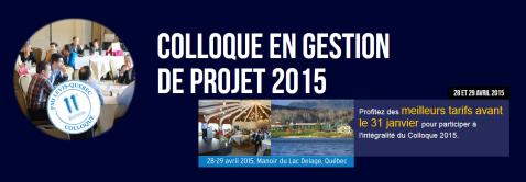 Colloque PMI Levis Québec 2015