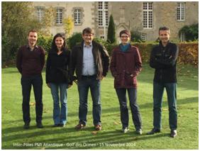 De gauche à droite : David Cherruaud (Nantes), Laurence Tanguy (Caen), Martial Bellec (Rennes-VP Atlantique), Elodie Descharmes (Lannion), Jean Paul Accarie (Rennes).Absents : Darin Beach (Rennes), Pascal Walbrou (Caen)