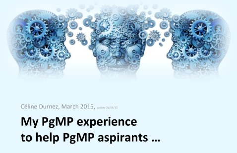 Cécile Durnez PgMP Experience
