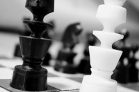 black-and-white-chess-chessman