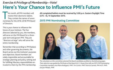 PMI Vote 2015