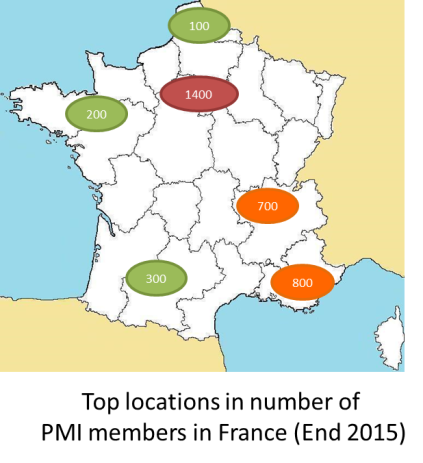 PMI Members top locations France