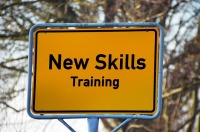 new skills road sign