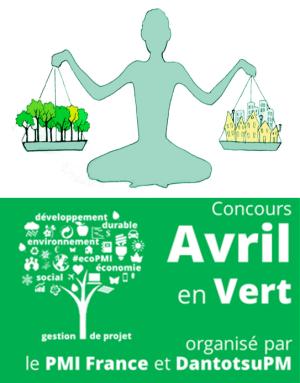 bannière verticale - avril en vert