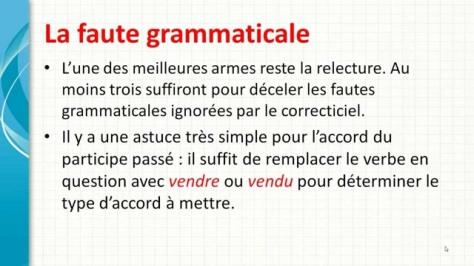 faute grammaticale