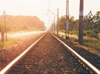 straight line train railtrack