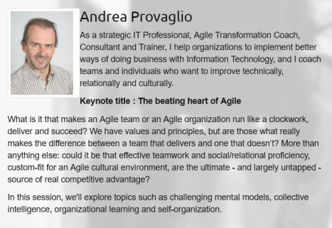 Agile Grenoble-2016 keynote :Andrea-Provaglio