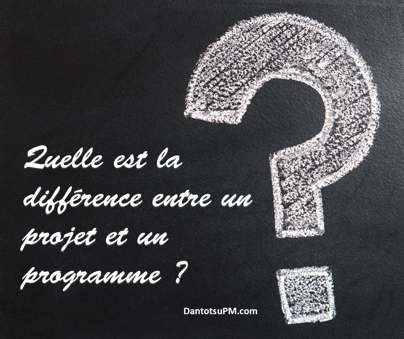 Quelle Est La Difference Entre Un Projet Et Un Programme