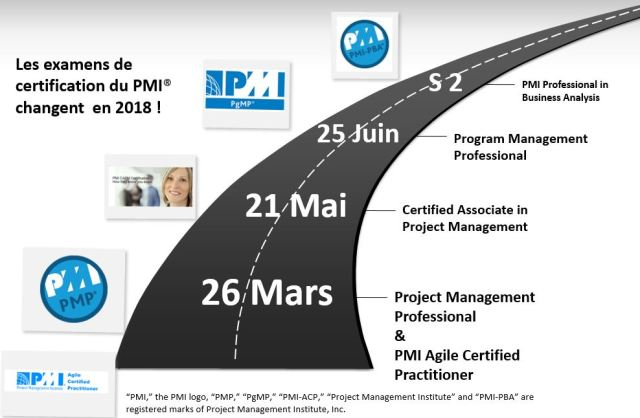 PMI exams changes roadmap 2018