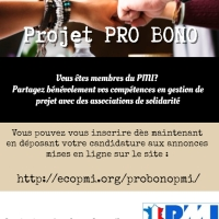 Le PMI® France propose à ses 5000 chefs de projets expérimentés la possibilité de partager leurs compétences avec des associations de solidarité demandeuses !